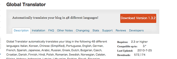 WordPress Global Translator Plugin