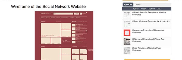 10 Fresh Beautiful Examples of Website Wireframes | Mockup Builder Blog